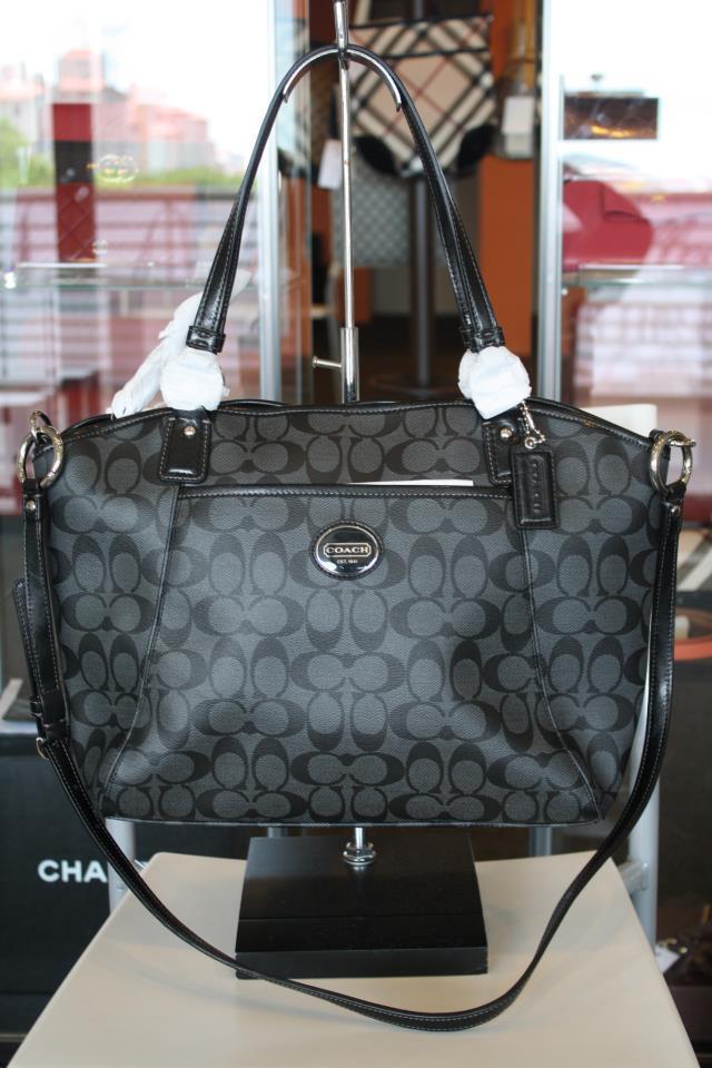 Coach Peyton Women S Signature Pocket Tote Handbag Bag It For Life