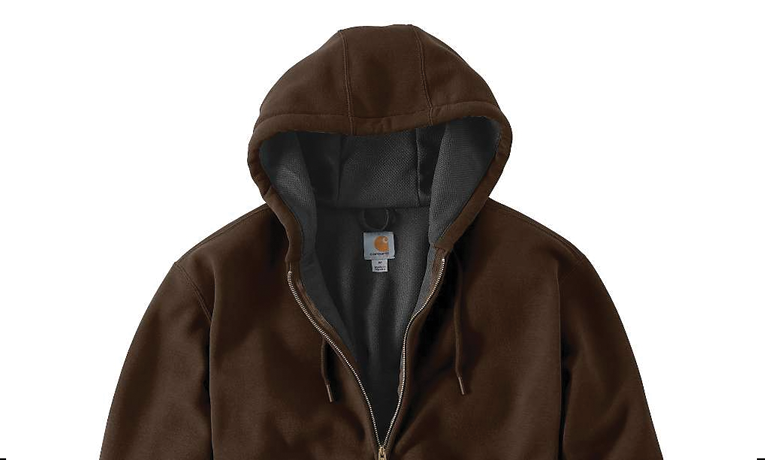 Carhartt Men's Rain Defender Rutland Thermal-Lined Hooded Zip-Front Sweatshirt | Buy it for life (BIFL)