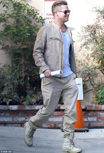 Brad Pitt sporting some combat boots