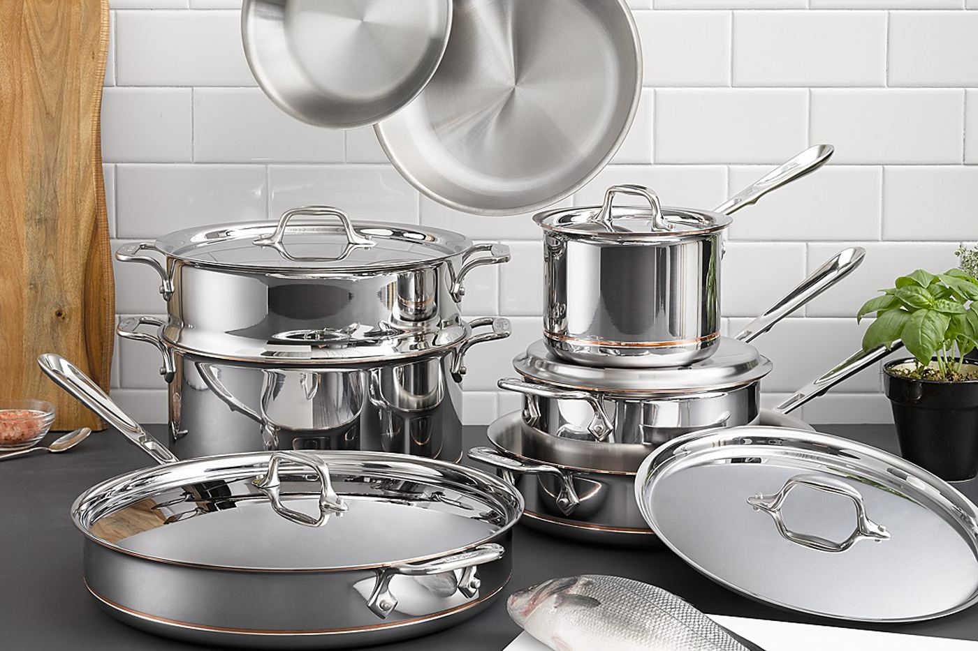All Clad pots and pans BIFL