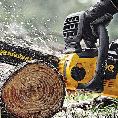Best cordless electric chainsaw:  Dewalt DCCS690H1 Lithium Ion Chainsaw