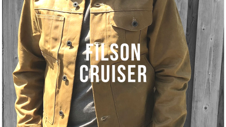 The legendary super durable Filson Tin Cloth Cruiser Jacket