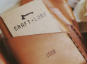Port leather wallet by Craft and Lore